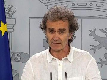 Fernando Simón en rueda de prensa para explicar los últimos datos de la epidemia