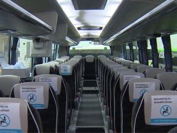 Asientos de un autobús de Alsa