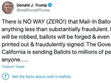 Twitter duda sobre la veracidad de las informaciones de Donald Trump