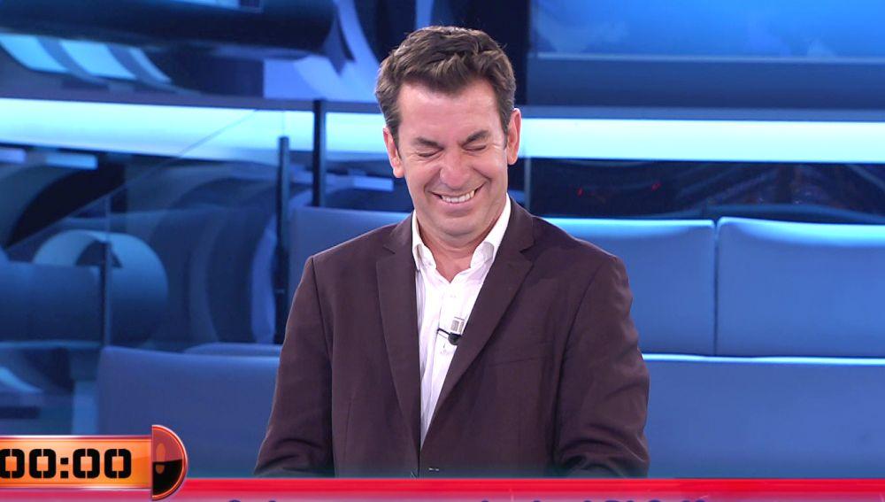 El fallo de Eva Happy con Di Stefano que provoca las carcajadas de Arturo Valls en '¡Ahora caigo!'