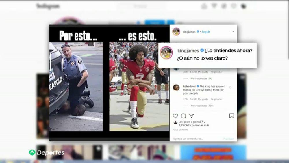 LeBron James estalla tras la muerte de George Floyd a manos de un policía en Minneapolis