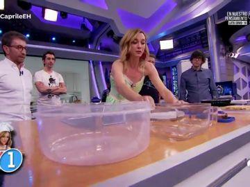 La gran idea de Marta Hazas en tu cocina: ¡los tuppers se usan al revés!