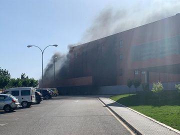 Incendio en el Hospital de Hellín