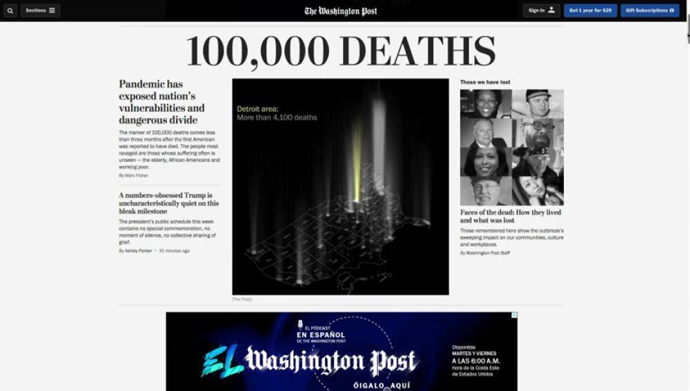 Estados Unidos sobrepasa los 100.000 muertos por coronavirus entre el temor y la reapertura total