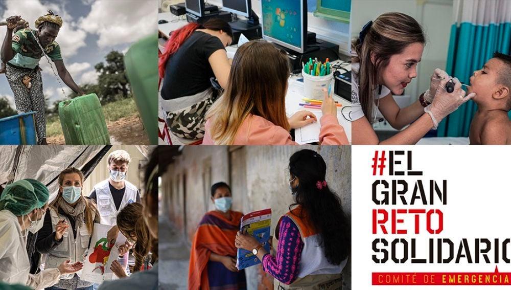 Cinco ONG se unen en #ElGranRetoSolidario para salvar vidas en la pandemia por coronavirus