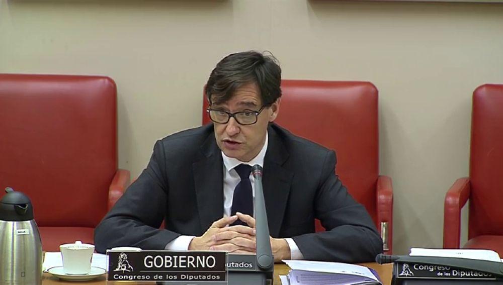 Salvador Illa, en la Comisión de Sanidad