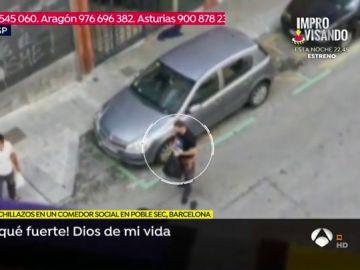 Pelea en Barcelona.