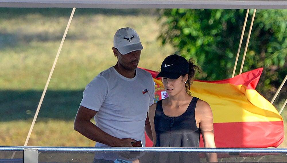 Rafa Nadal y Xisca Perelló en su nuevo y lujoso barco