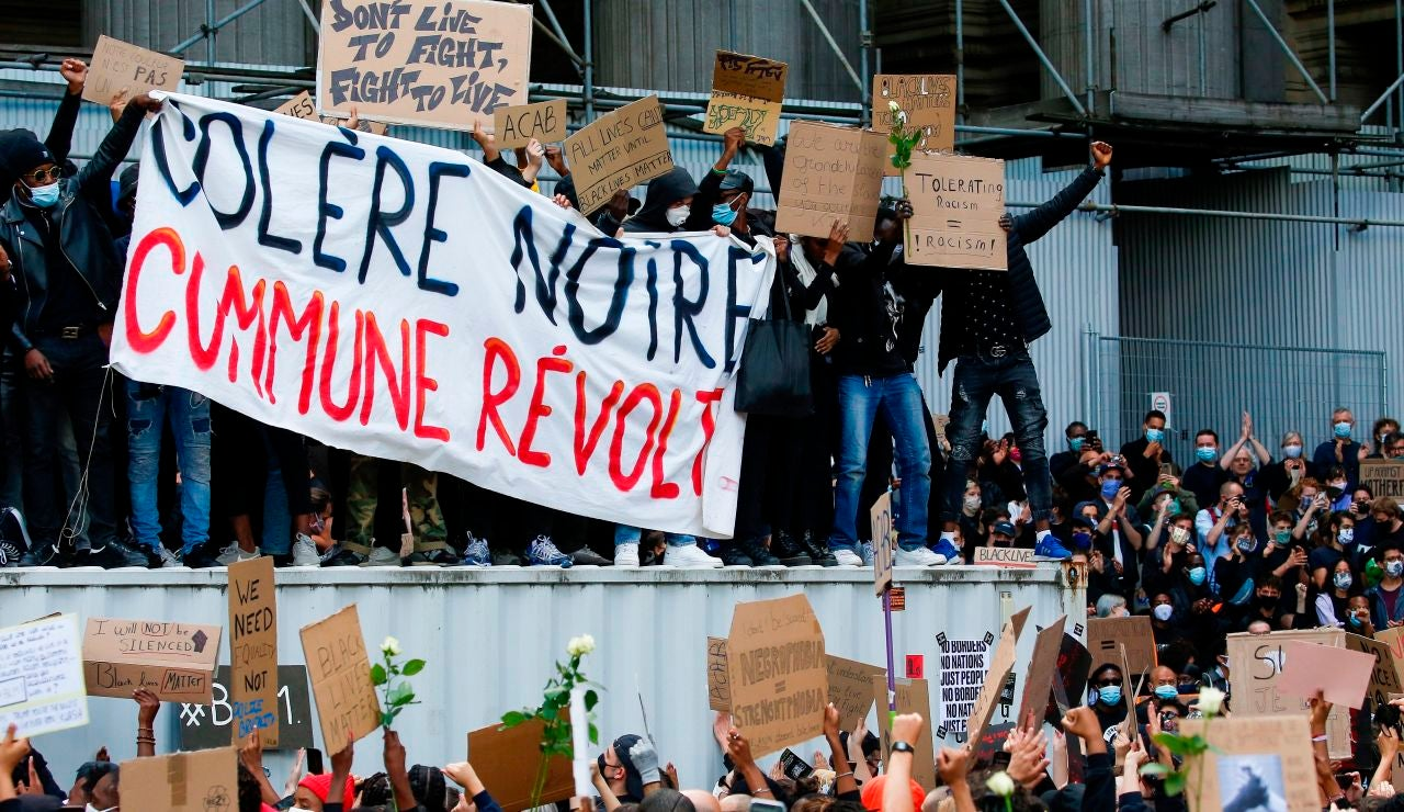 Manifestación antirracista en Bruselas