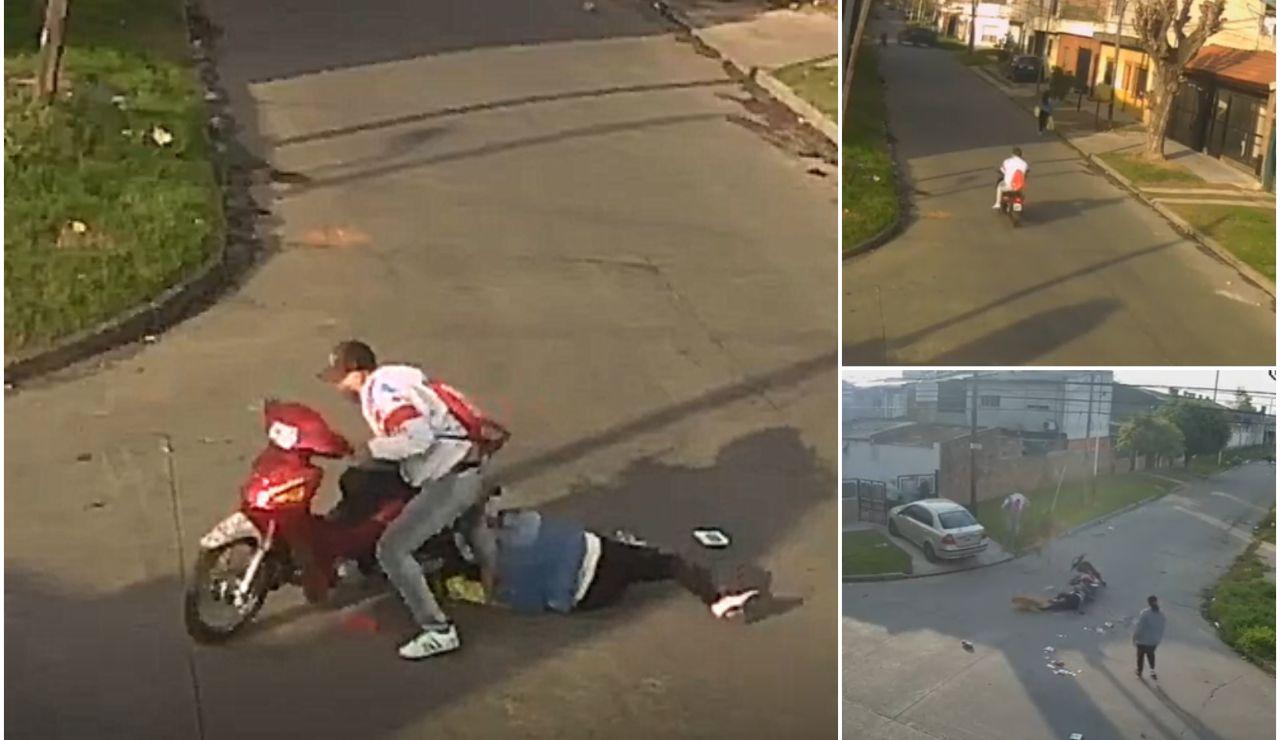 Un ladrón arrastra a una mujer con su moto en Argentina