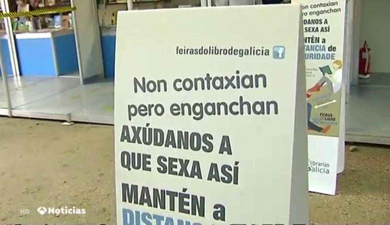 Santiago de Compostela celebra la primera Feria del Libro post confinamiento por coronavirus de España