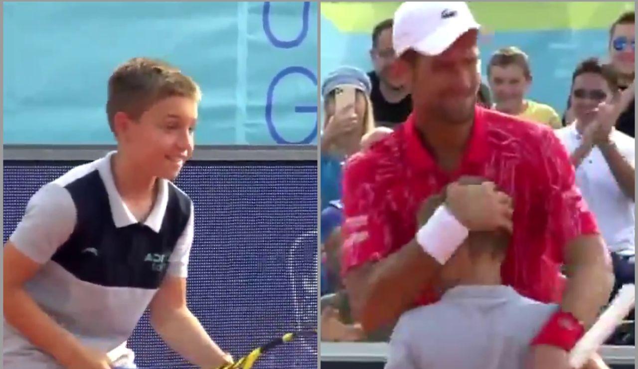 El niño que venció un punto a Novak Djokovic