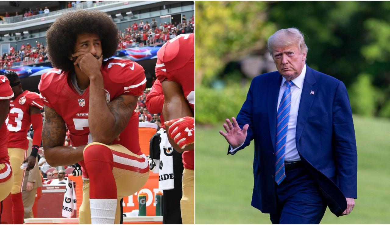 Colin Kaepernick y Donald Trump