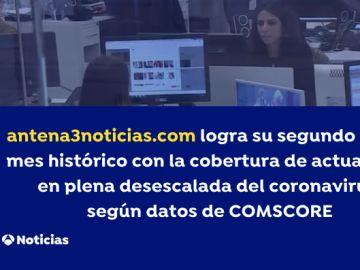 antena3noticias.com logra su segundo récord histórico