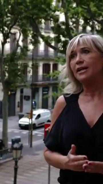 """Julia Otero, orgullosa de regresar a Las Ramblas de Barcelona: """"Este paseo ha sobrevivido a una distopía"""""""