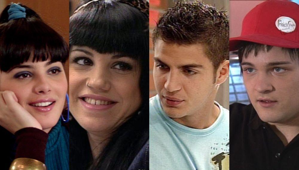 Andrea Duro, Angy Fernández, Maxi Iglesias, Adam Jezierski en 'Física o Química'