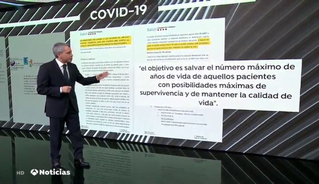 Vicente Vallés repasa los documentos de las comunidades y de Sanidad sobre cómo atender en hospitales a ancianos con coronavirus