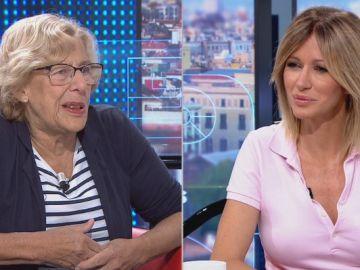 Manuela Carmena y Susanna Griso.