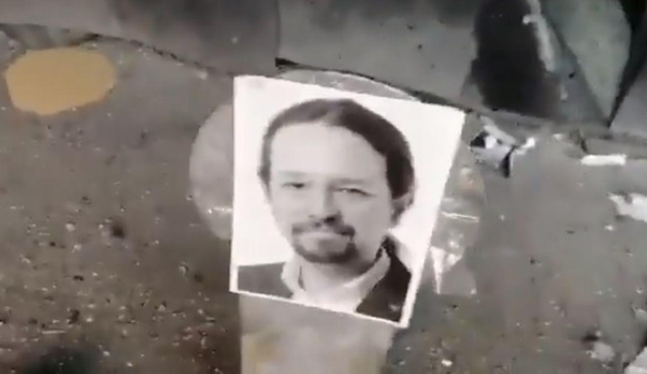 La imagen de Pablo Iglesias en una diana de tiro