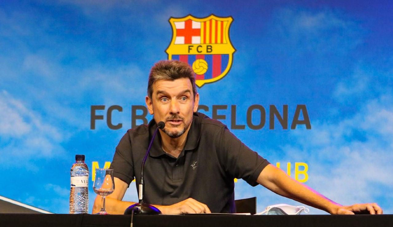 Juan Carlos Unzué, en rueda de prensa