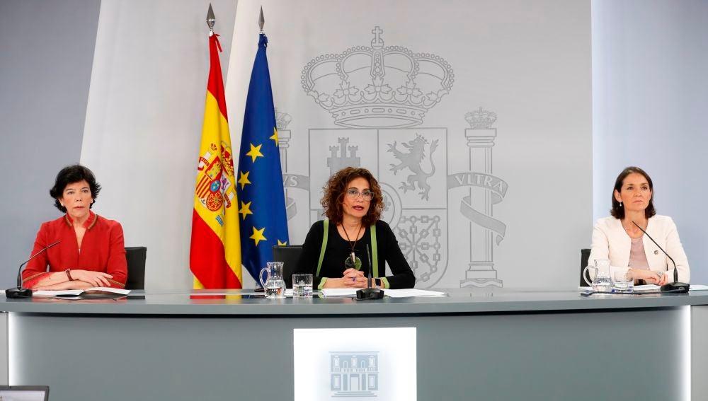 La portavoz del Gobierno y ministra de Hacienda, María Jesús Montero