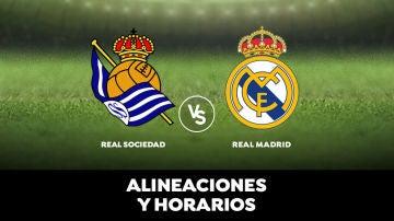 Real Sociedad - Real Madrid: Horario, alineaciones y dónde ver el partido en directo | Liga Santander
