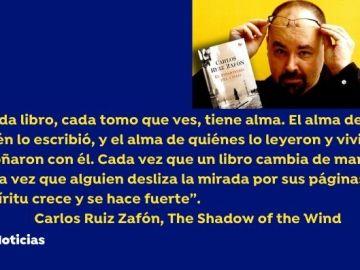 Carlos Ruiz Zafón fallece a los 55 años por cáncer