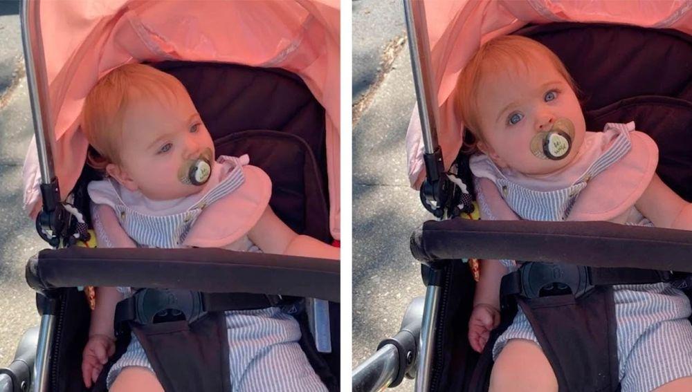 Bebé en un carrito