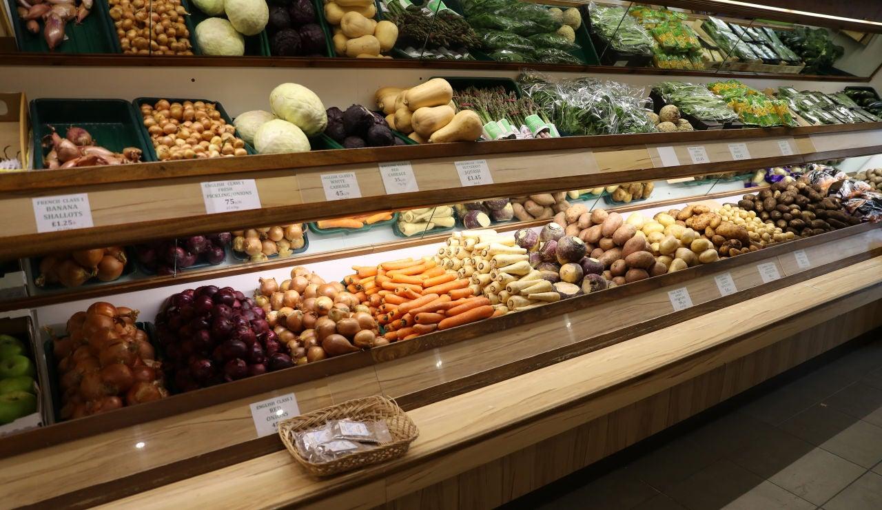 Expositor de verduras