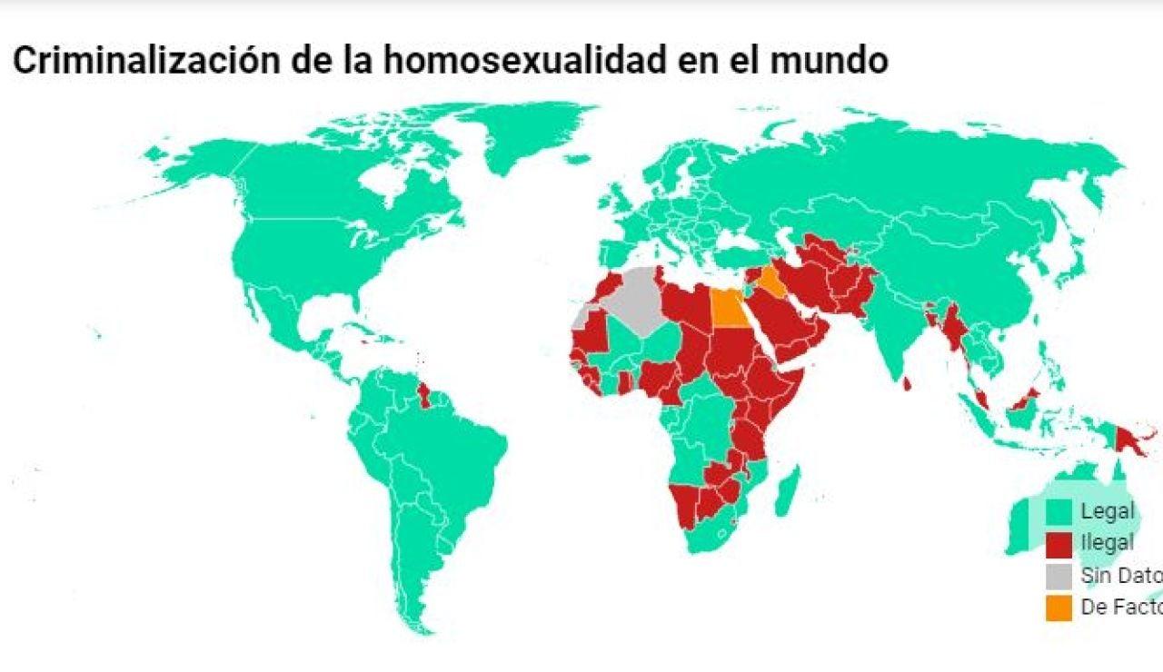 Mapa criminalización de la homosexualidad