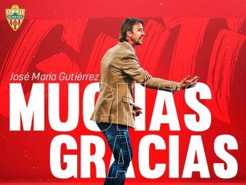 Guti, destituido como entrenador del Almería tras siete meses en el cargo