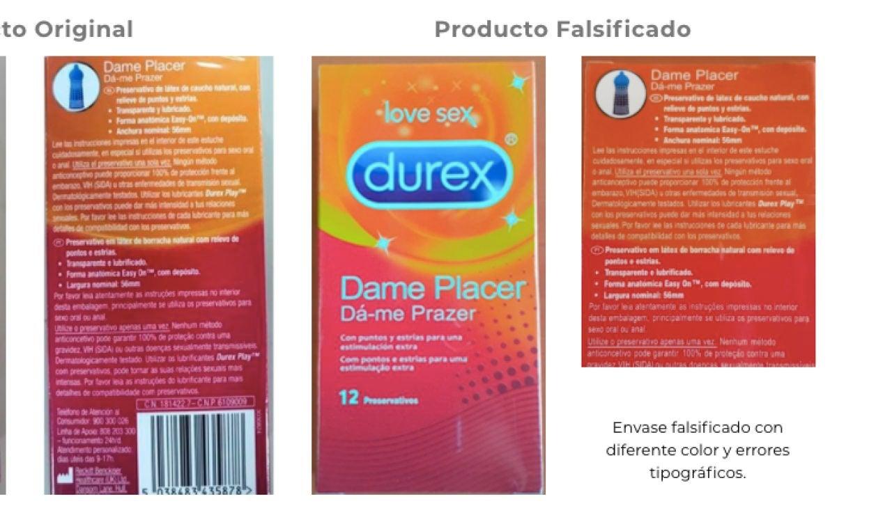 Preservativos falsificados
