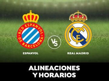 Espanyol - Real Madrid: Horario, alineaciones y dónde ver el partido en directo | Liga Santander