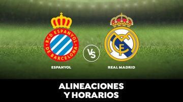 Espanyol - Real Madrid: Horario, alineaciones y dónde ver el partido en directo   Liga Santander
