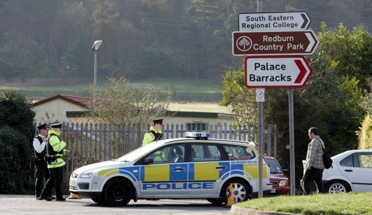 Imagen de archivo de agentes de Policía en Irlanda del Norte