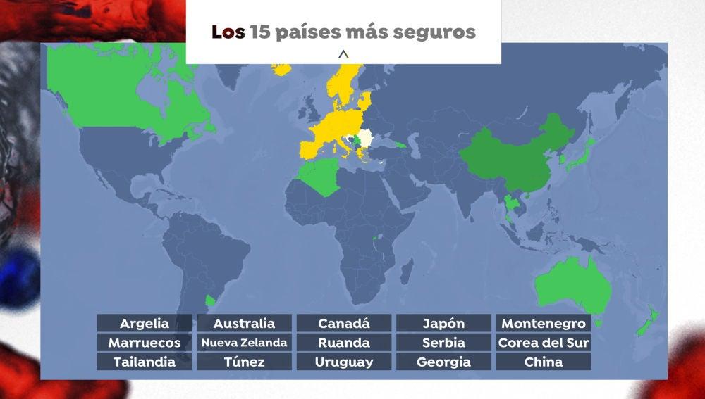 Los 15 países más seguros ante el coronavirus