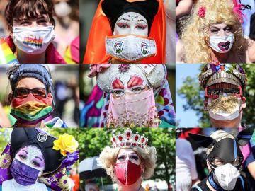 Manifestación del Orgullo LGTBI por los derechos del colectivo en Berlín
