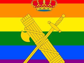 La imagen de la Guardia Civil para celebrar el Día del Orgullo 2020