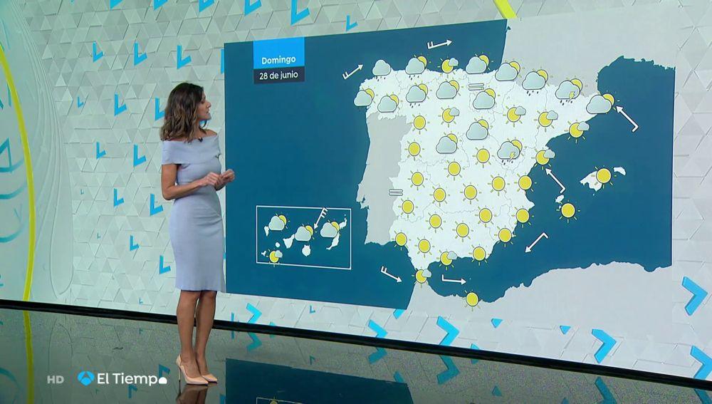 Tu Tiempo (27-06-20) Cielo despejado y lluvia débil en Cantábrico y Pirineos
