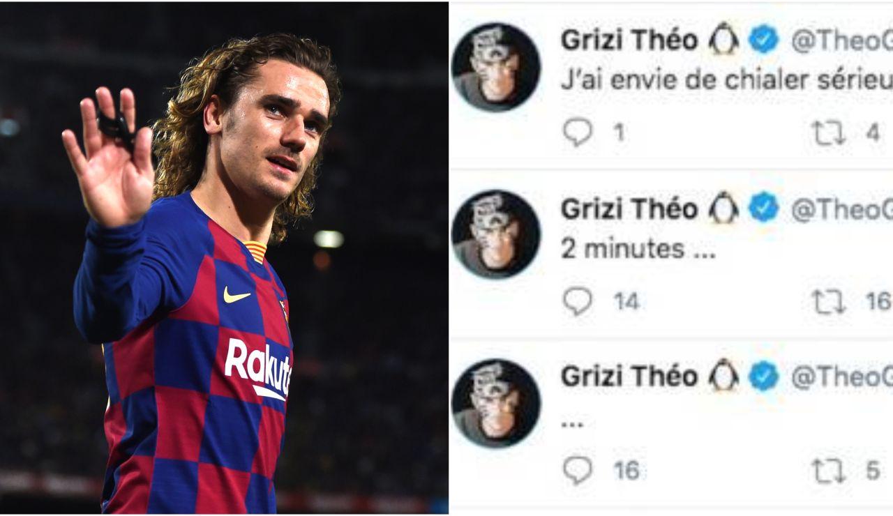 """Los mensajes del hermano de Griezmann a Quique Setién que luego borró en Twitter: """"Quiero llorar"""""""