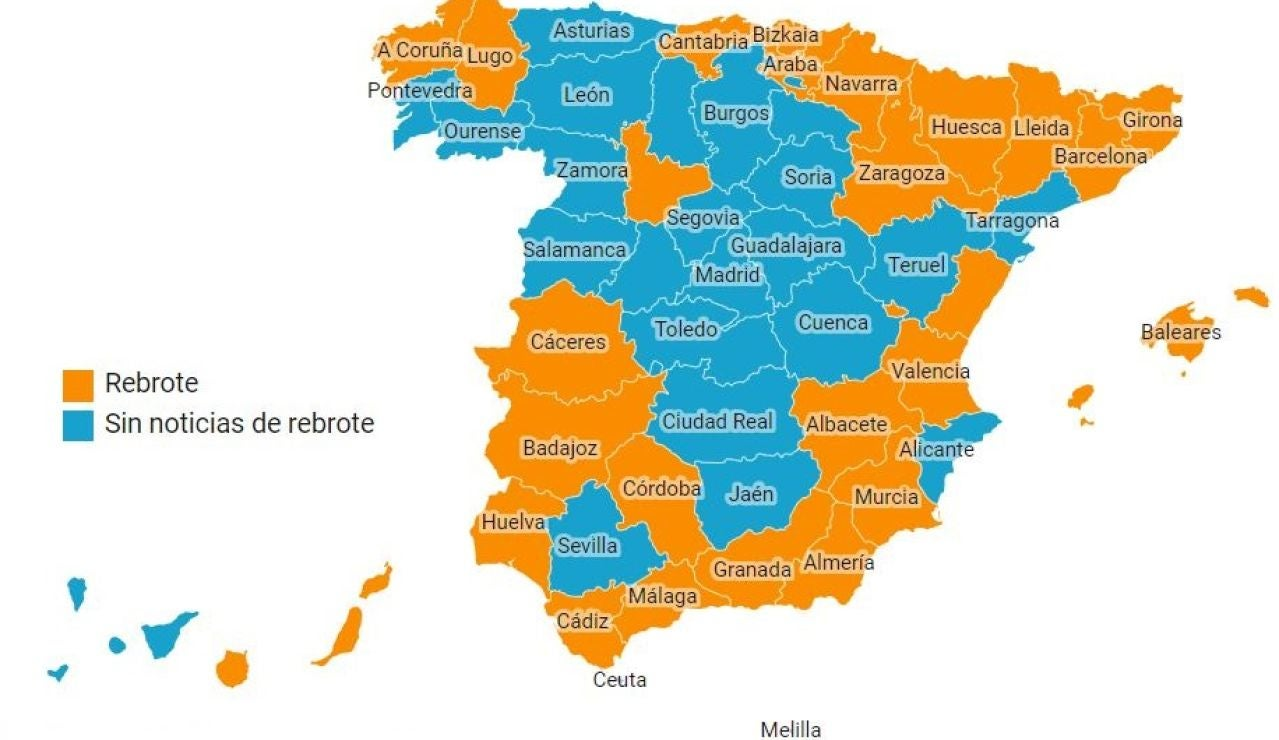 Mapa rebrotes 1 de julio