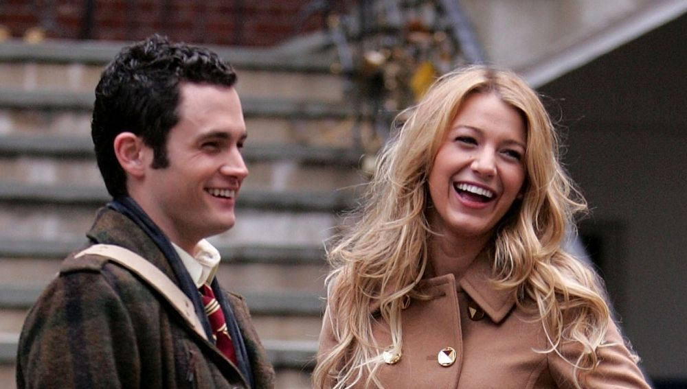 Penn Badgley y Blake Lively en 'Gossip Girl'