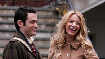 Penn Badgley y Blake Lively en 'Gossip Girl'