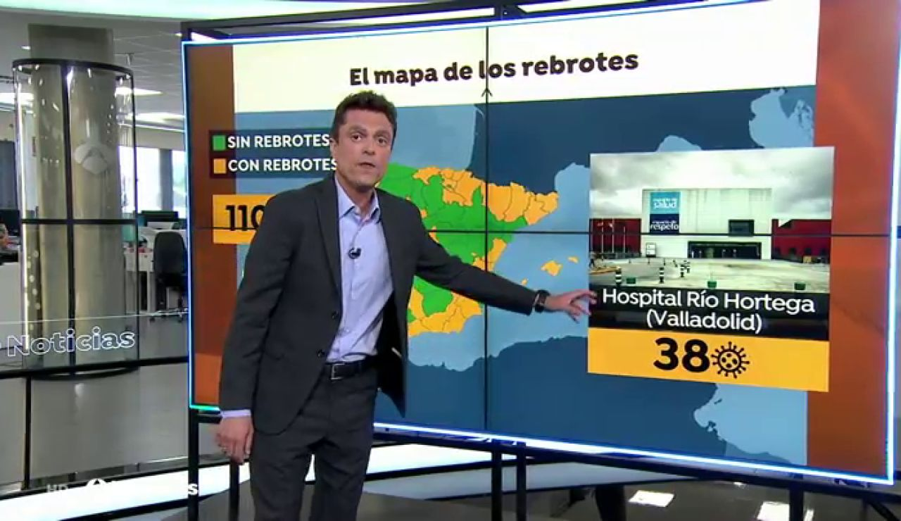El rebrote de coronavirus del Hospital Río Ortega de Valladolid suma 38 positivos, 20 de ellos son trabajadores