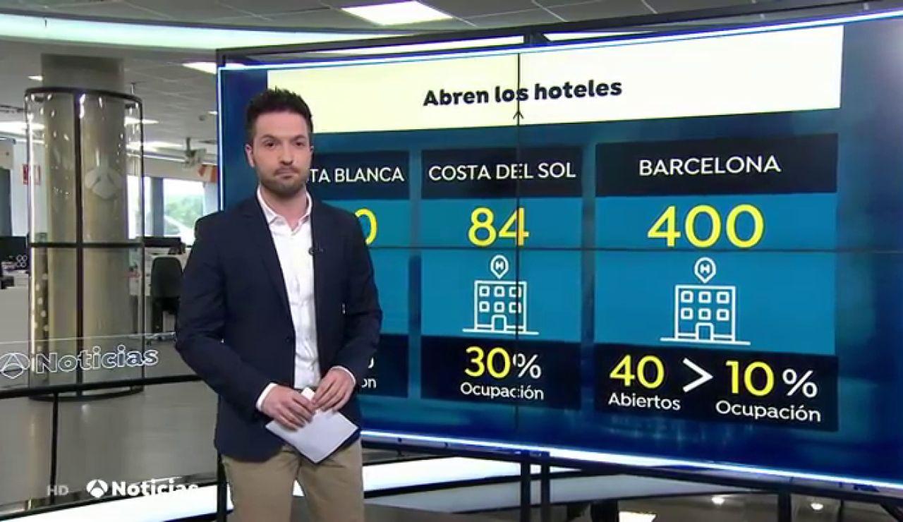 Los hoteles reabren sus puertas en el inicio de un atípico mes de julio
