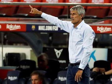 """Quique Setién: """"No es fácil encontrarle sitio a Griezmann sin desestabilizar el equipo"""""""