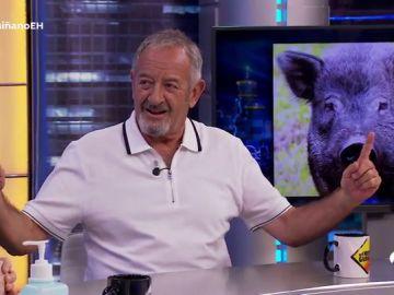 """""""Delgadita pero muy nerviosa"""", Karlos Arguiñano confiesa cómo se impresionó por el miembro viril de uno de sus animales"""