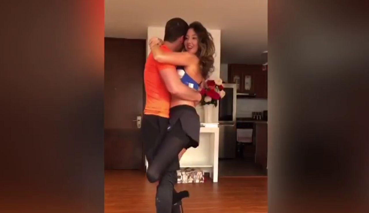 La exmiss Colombia, Daniella Álvarez, se atreve a bailar un mes después de que le amputaran la pierna