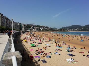 Jornada de playa en San Sebastián