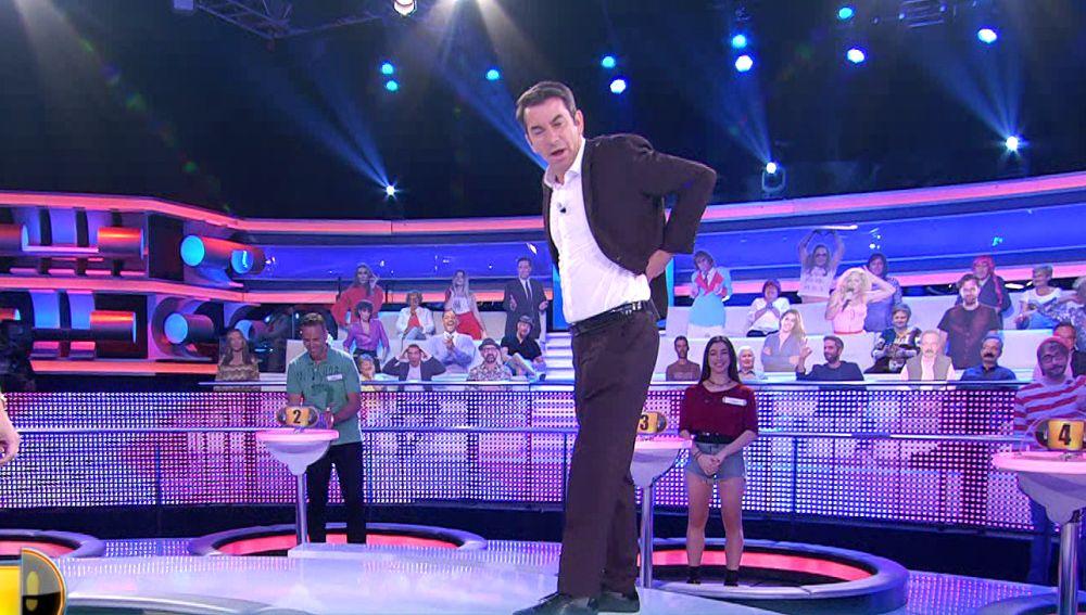 La llamativa respuesta de un concursante que provoca las bromas de Arturo Valls en '¡Ahora caigo!'